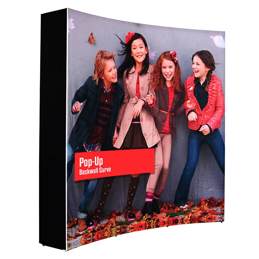 SEG CURVED POP UP DISPLAY STAND