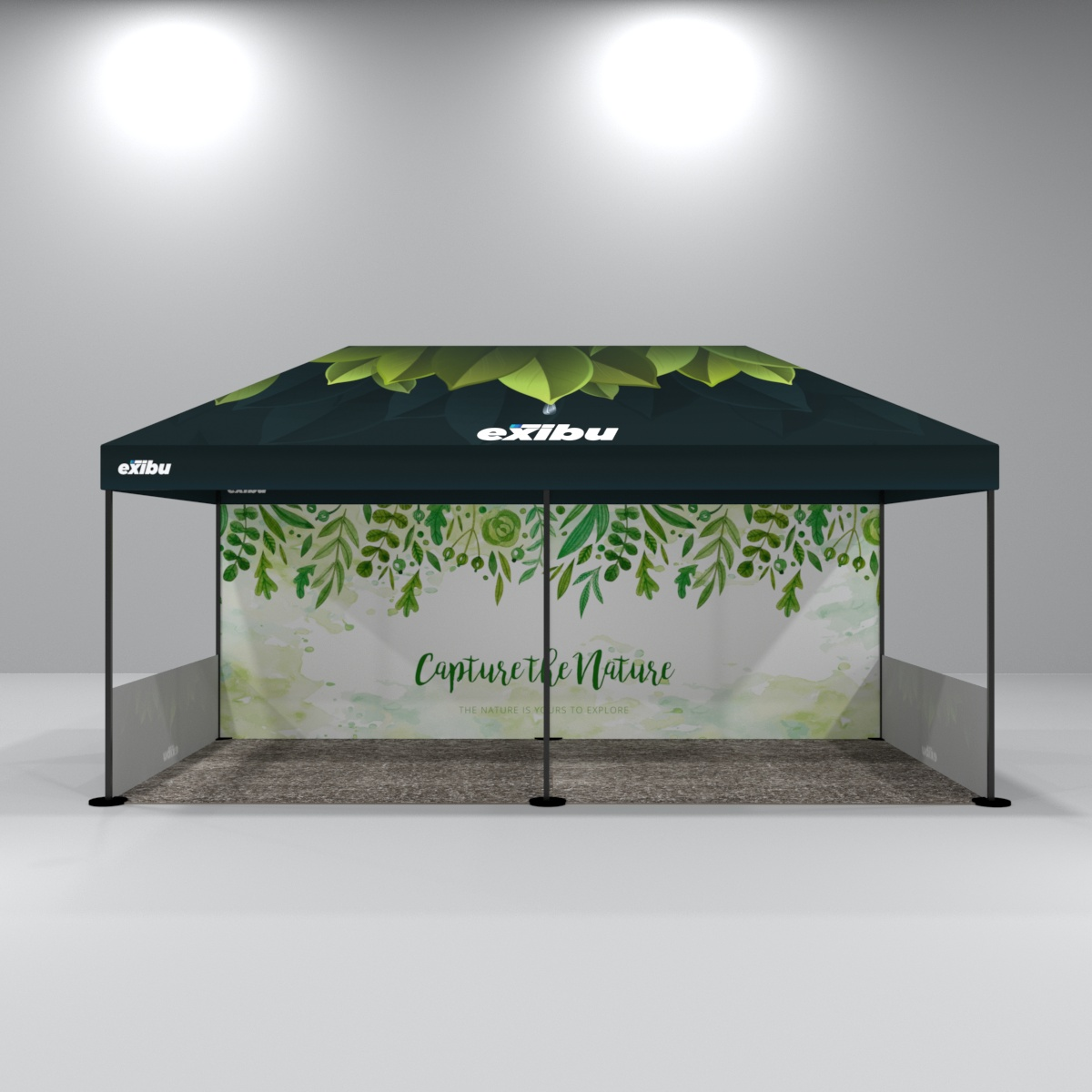 Fully Printed Canopy Tent with 1 Backdrop And 2 Side Halfwall