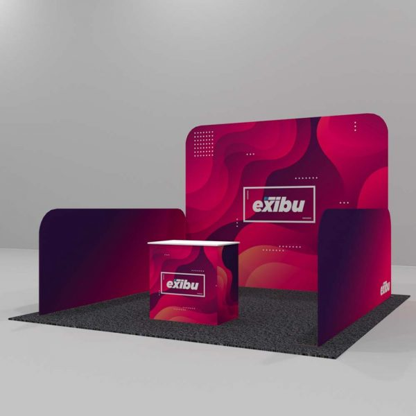 Backdrop with Halfwalls Booth-Rent a Booth