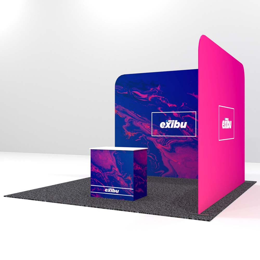 Backdrop with single Sidewall-Rent a Booth