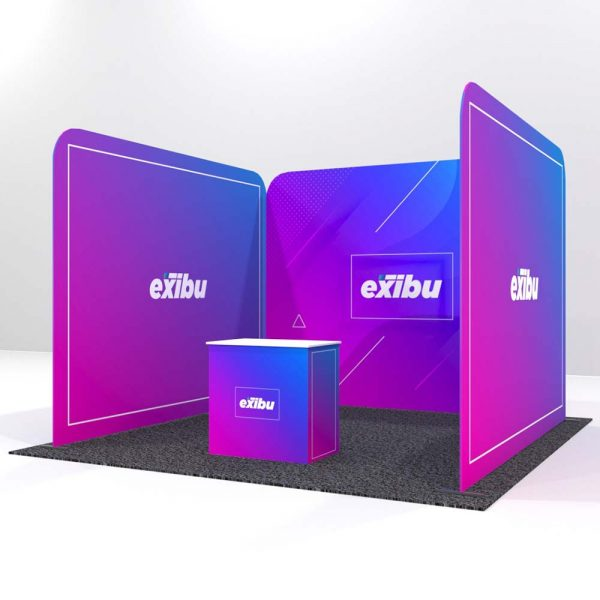 Backdrop with two Sidewalls-Rent a Booth