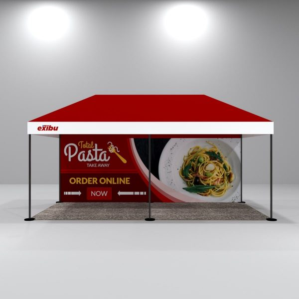 Kit 3 – 3X6 M Gazebo Tent With Backdrop And Top Facia Print
