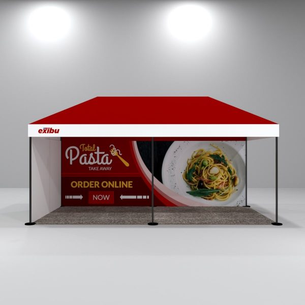 Kit 4 – 3X6 M Gazebo Tent With Backdrop And Full Sidewall