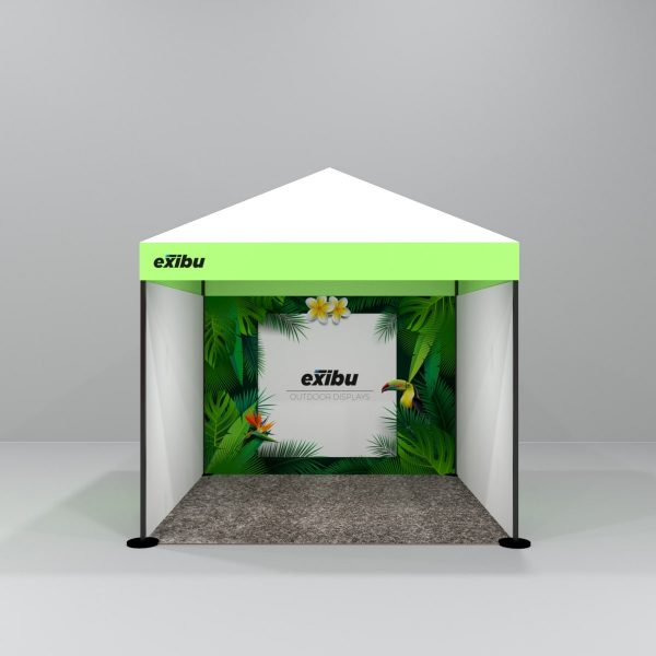 Kit 5 – 3X3 M 3 Side Covered Gazebo Tent With 1 Backdrop And 2 Full Sidewalls