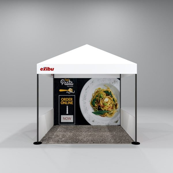Kit 6 – 3X3 M Gazebo Tent With 1 Backdrop And 2 Side Halfwalls