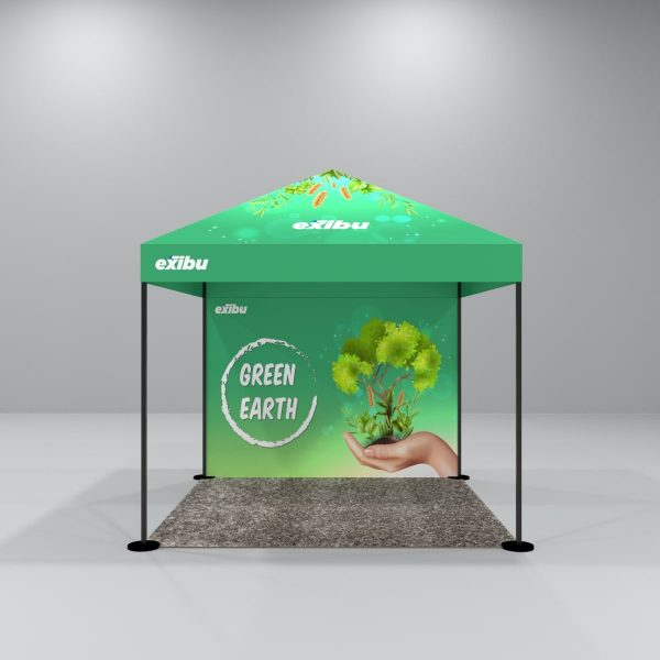 Kit 7 – 3X3 M Gazebo Tent With Full Top Printed And Backdrop