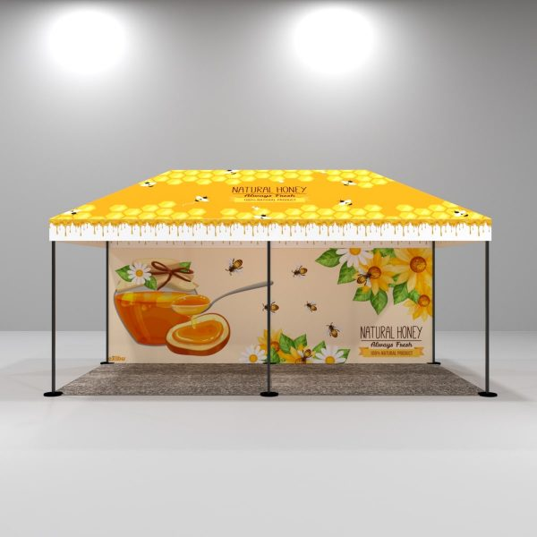 Kit 7 – 3X6 M Gazebo Tent With Full Top Printed And Backdrop