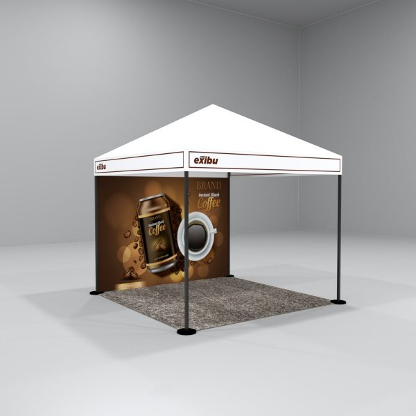 Kit 3 – 3X3 M Gazebo Tent With Backdrop And Facia Print