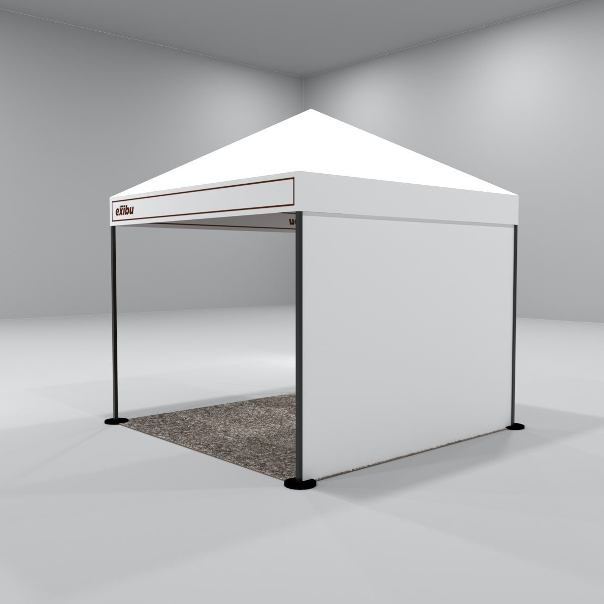 Kit 3 – 3X3 M Gazebo Tent With Backdrop And Facia Print