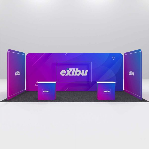 Kit 3 for Rent-Large Booth with Two reception desks