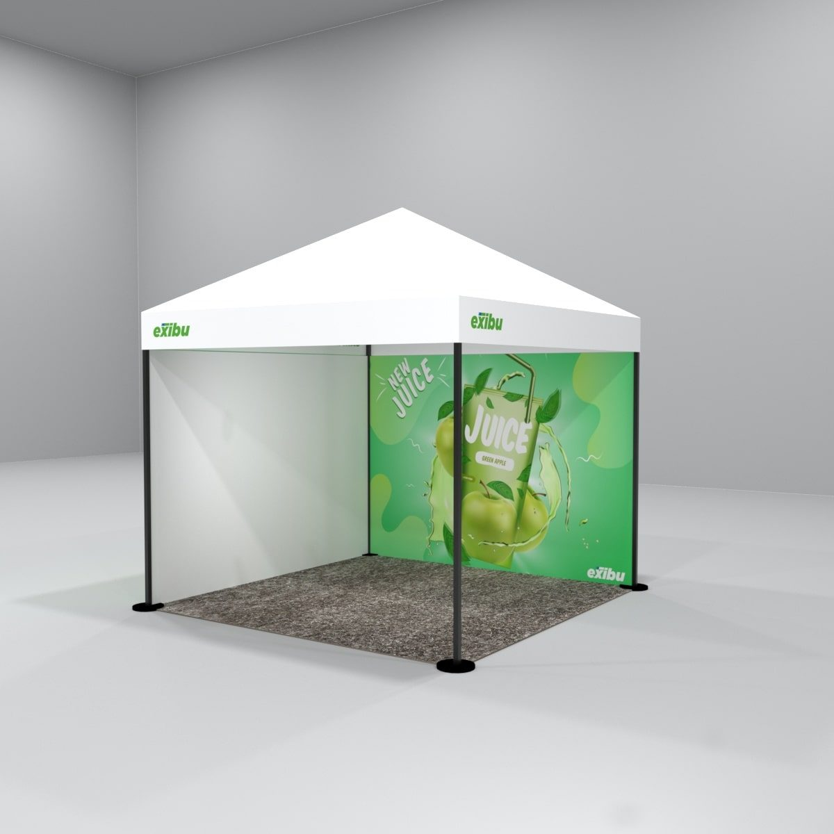 Kit 4 – 3X3 M Gazebo Tent With Backdrop And Full Sidewall