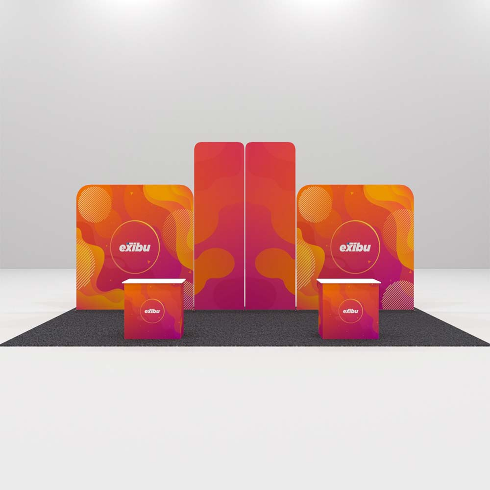 Kit 4 for rent- Backdrops with Display Stands Booth