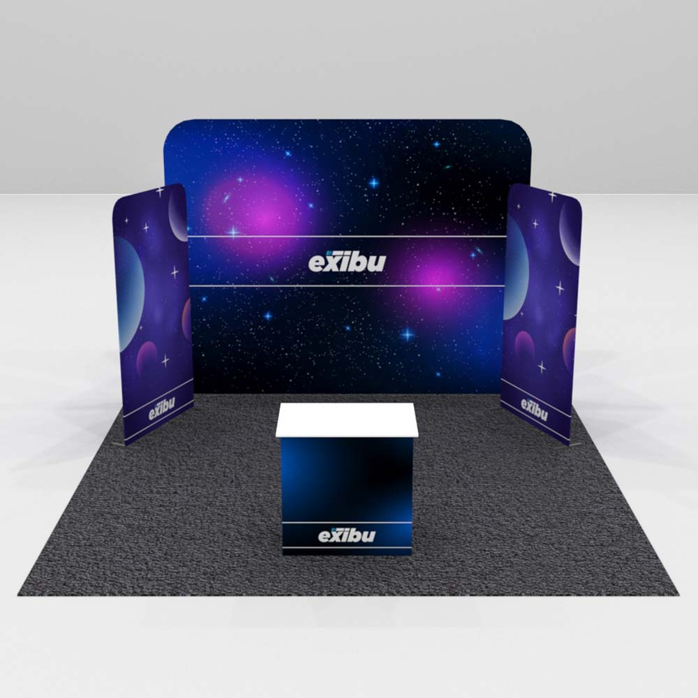 Kit 6 For Rent-Backdrop with two Display Stands Booth
