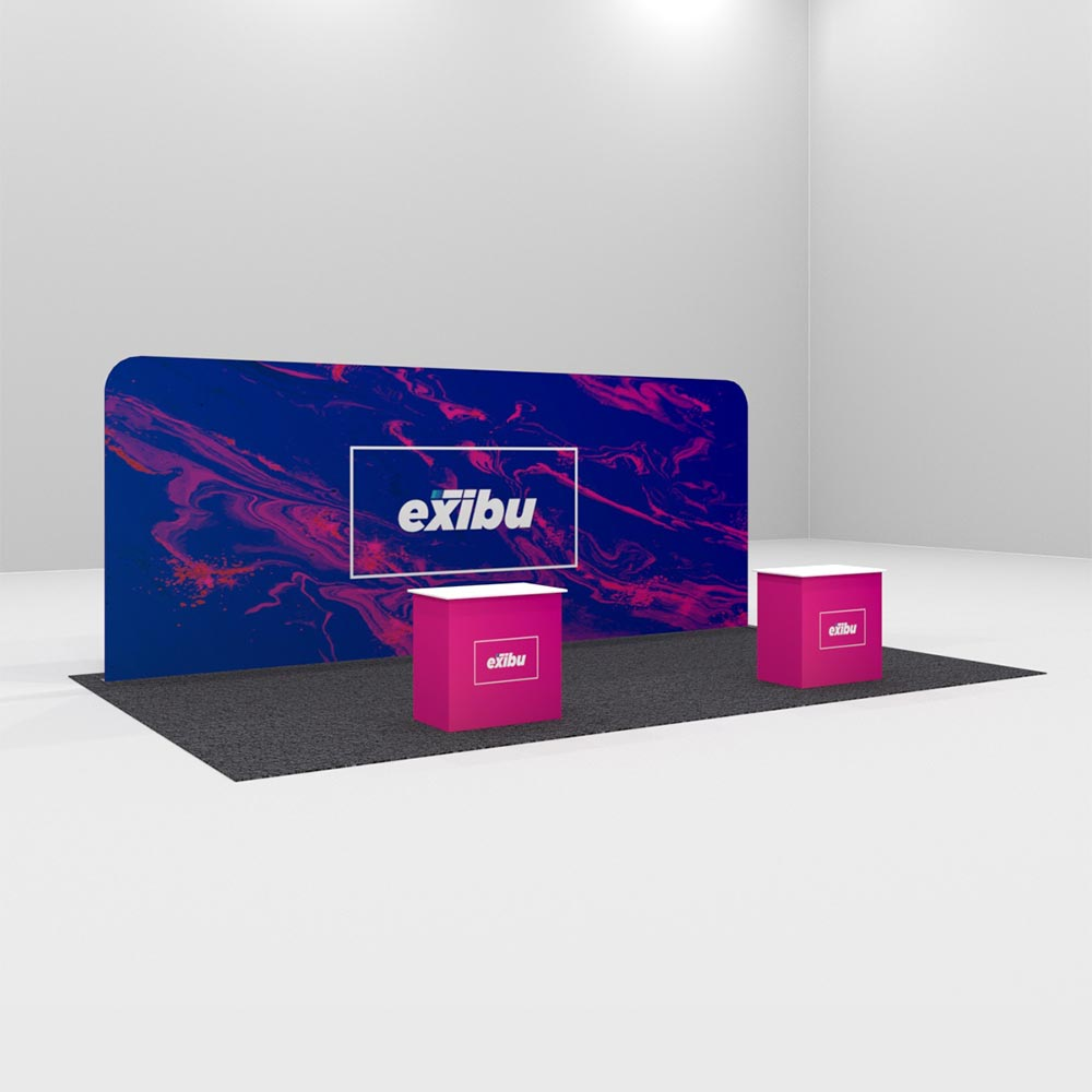 kit 2 for Rent-Single Large Backdrop with reception desks